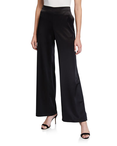Riverside Reverie Satin Cloth Ankle Pants