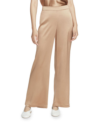Lafayette 148 New York Riverside Reverie Satin Cloth Ankle Pants