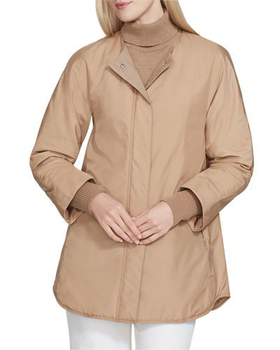 Mackay Alpine Outerwear Coat with Knit Combo