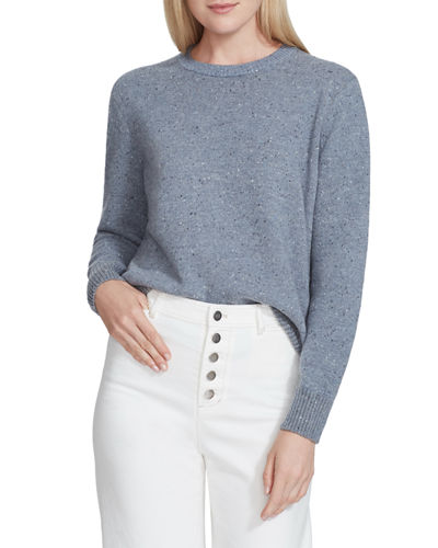 Donegal Speckled Wool Crewneck Sweater