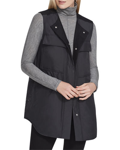 Willis Alpine Outerwear Vest with Knit Combo