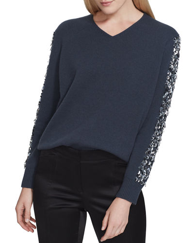 526a60bc0c8 Sequined Pullover Sweater | Neiman Marcus