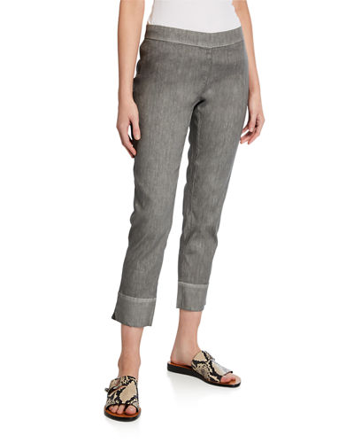 120% Lino Stretch Linen/Cotton Capri Pants