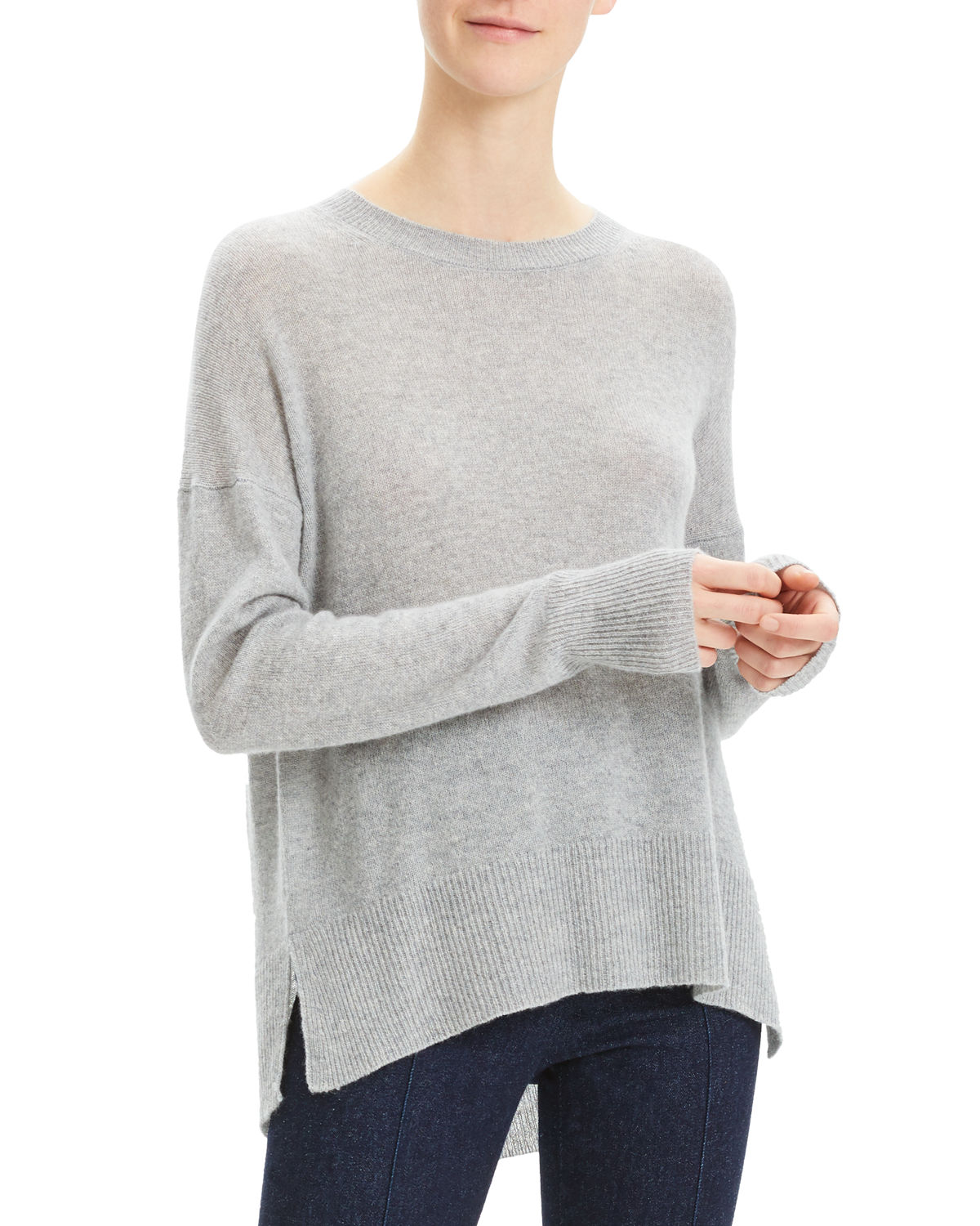 Theory Sweaters KARENIA CASHMERE CREWNECK PULLOVER SWEATER