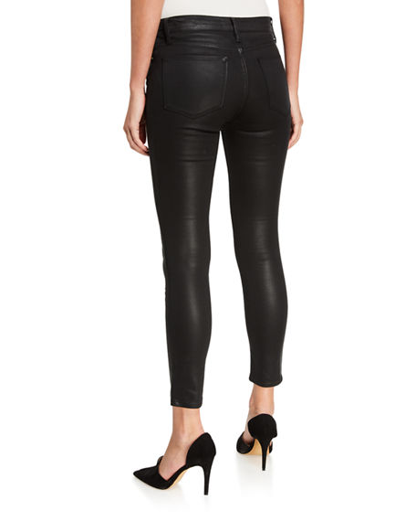 Image 2 of 3: FRAME Le High Skinny Coated Jeans
