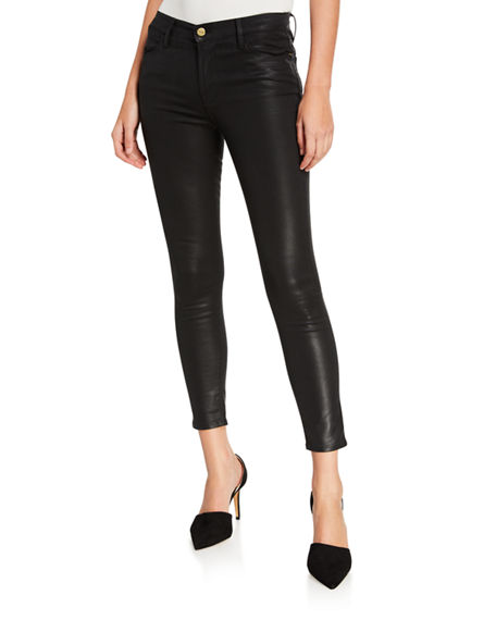Image 1 of 3: FRAME Le High Skinny Coated Jeans