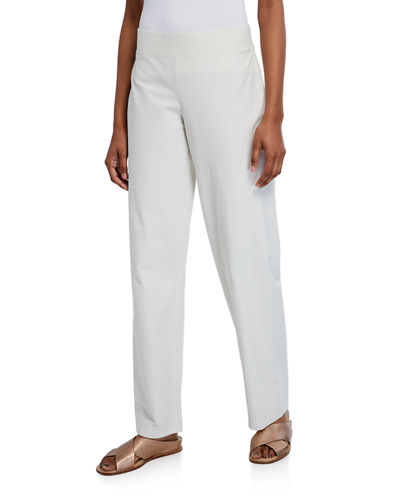 Eileen Fisher Straight-Leg Pants with Yoke
