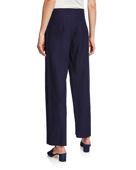 Image 2 of 3: Eileen Fisher Straight-Leg Pants with Yoke