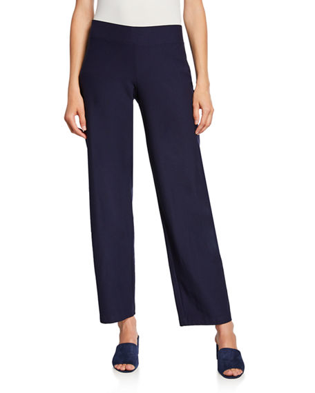 Image 1 of 3: Eileen Fisher Straight-Leg Pants with Yoke