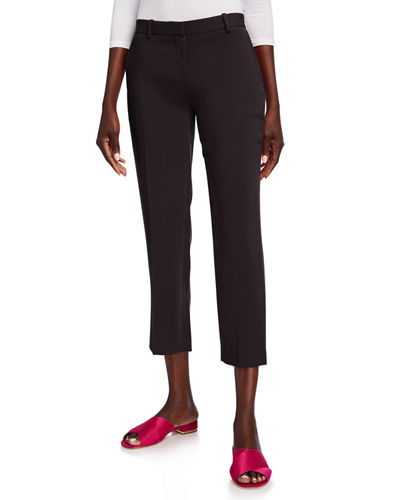 Admiral Crepe Tailored Cropped Trousers