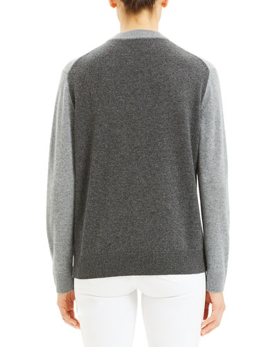 Theory Colorblock Cashmere Crewneck Sweater
