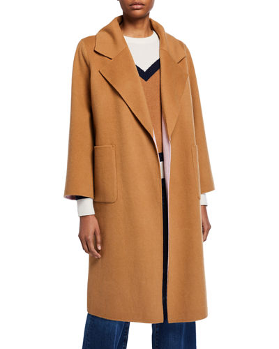 Lyonia Wool-Cashmere Belted Coat