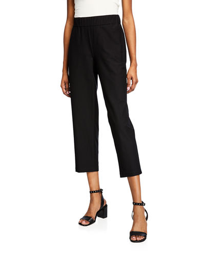 Petite Lightweight Stretch Crepe Cropped Pants