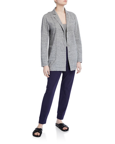 Eileen Fisher Plus Size Organic Cotton Tapered Jersey Ankle Pant