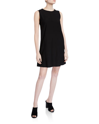 Eileen Fisher Lightweight Crepe Sleeveless Shift Dress