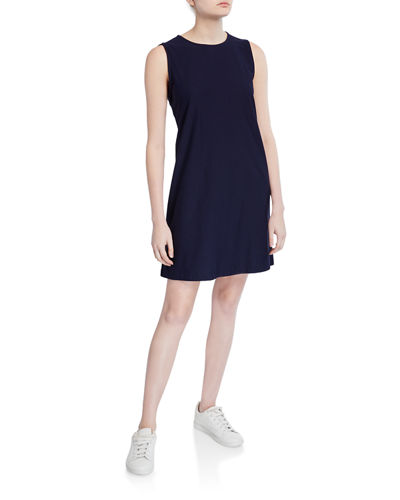 Lightweight Crepe Sleeveless Shift Dress