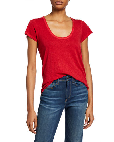 Rag & Bone U-Neck Cotton Tee