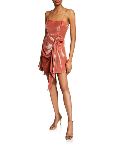 cinq a sept Kiki Draped Velvet Mini Dress
