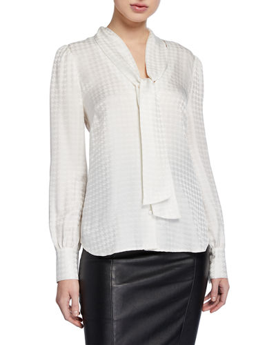 Nicky Tie-Neck Silk Top
