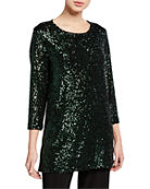 Caroline Rose Sequin 3/4-Sleeve Tunic and Matching Items