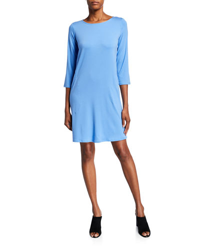 Lyocell Jersey 3/4-Sleeve Dress