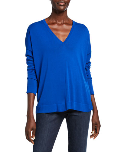 Eileen Fisher Plus Size V-Neck Long-Sleeve Sweater