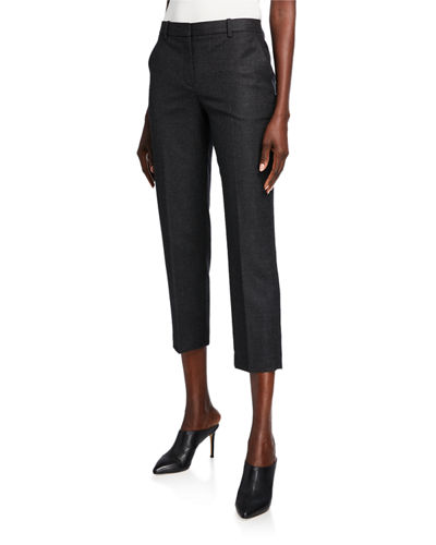 Sleek Flannel Tailored Trousers