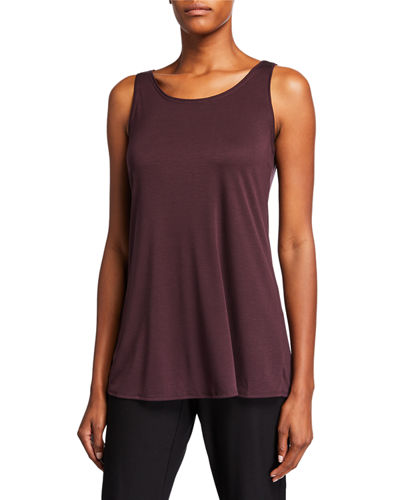 Long Interlock Scoop-Neck Tank