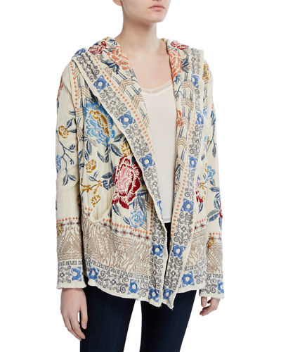 Pasca Embroidered Chenille Short Hoodie Jacket