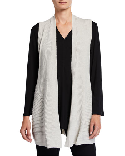 Washed Wool Long Rib Vest