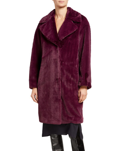 Camile Faux Fur Cocoon Coat