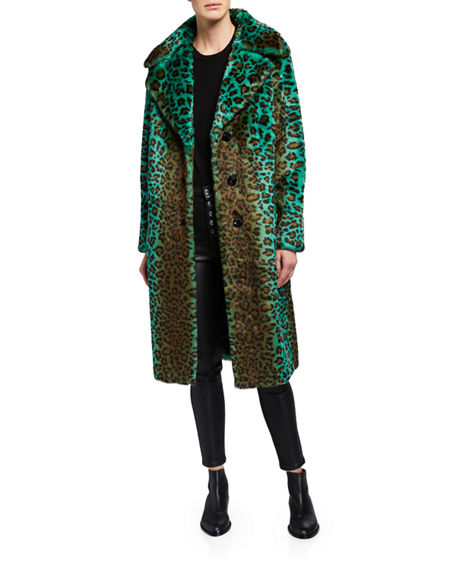 Image 3 of 4: STAND Fanny Faux Fur Long Coat