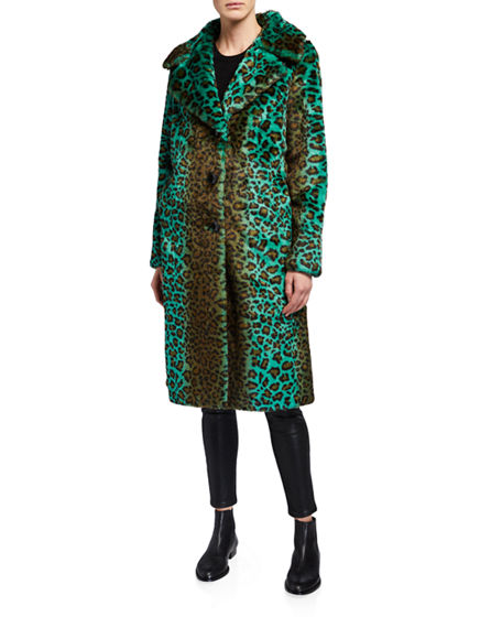 Image 1 of 4: STAND Fanny Faux Fur Long Coat