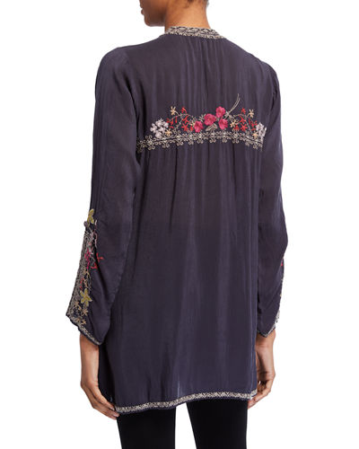 Johnny Was Plus Size Liliana Embroidered Tunic