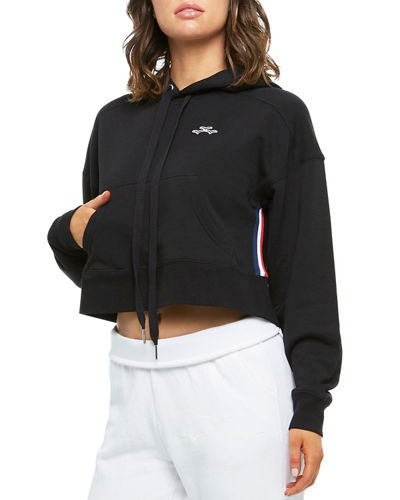 Elena Cropped Pullover Hoodie