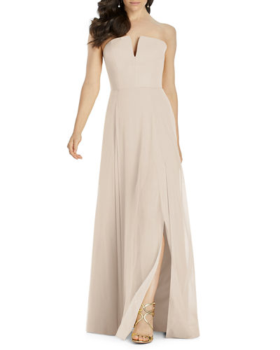 7863f7fcbf2b Quick Look. Dessy Collection · Strapless Lux Chiffon A-Line Dress