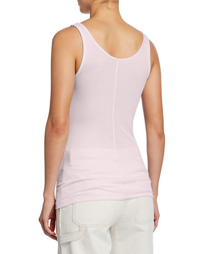 Vince Scoop-Neck Rib-Knit Tank