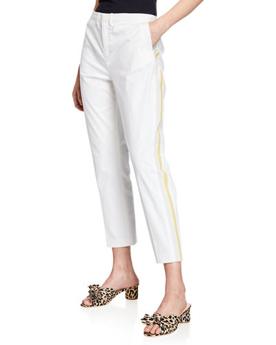 Le Superbe St. Honore Mid-Rise Racer Stripe Cropped Pants