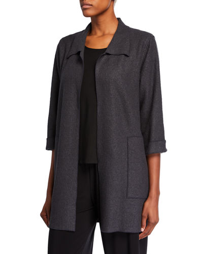 Plus Size Paris Plush Long Easy Jacket