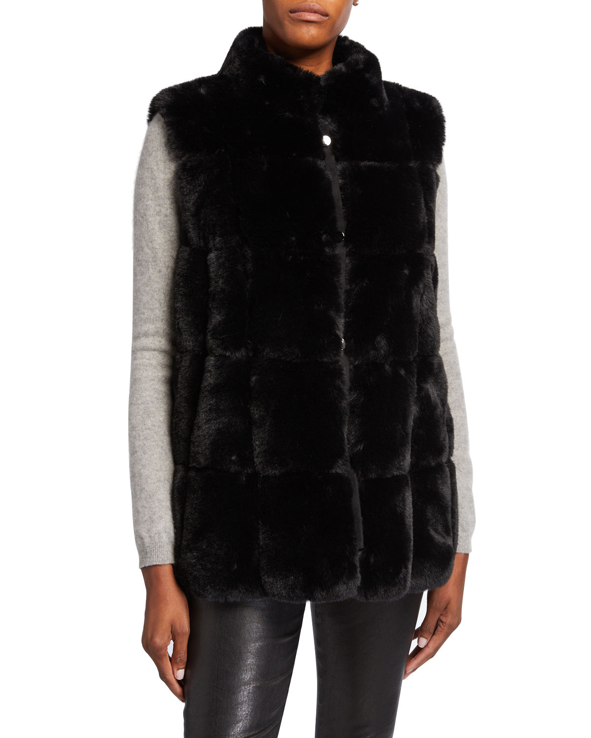 Belle Fare Tops MODERN FAUX FUR VEST