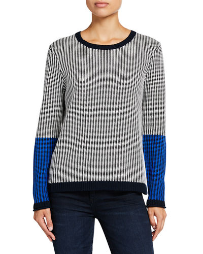 In Stitches Colorblock Long-Sleeve Sweater