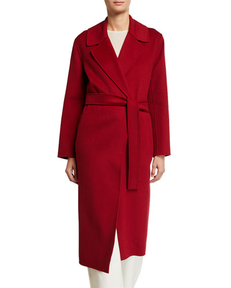 Max Mara Vincent Long Button-Front Double-Face Wool Coat