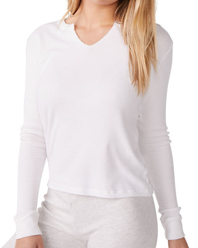 Split-Neck Long-Sleeve Thermal Top