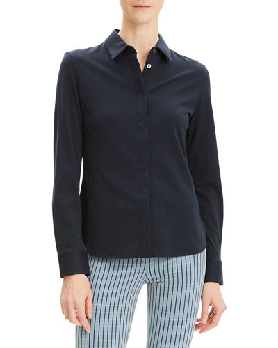 Button-Down Fitted Pima-Cotton Shirt