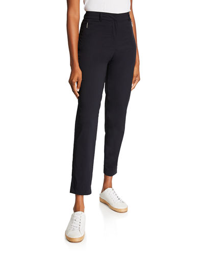 Thea Ankle Pants with Zipper Side Pockets