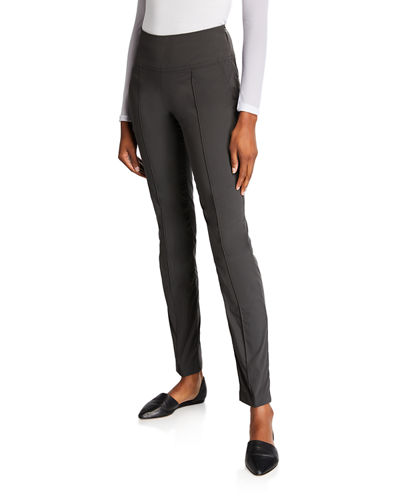 Sonia High-Rise Pintuck Side Zip Pants