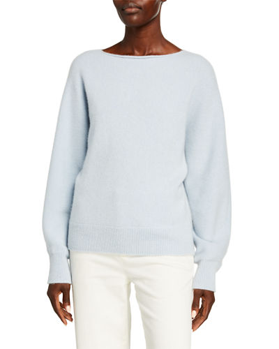 Cashmere Boat Neck Dolman Sweater