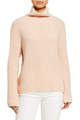 Vince Lofty Rib Turtleneck Sweater