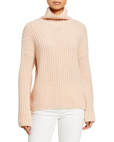 Lofty Rib Turtleneck Sweater