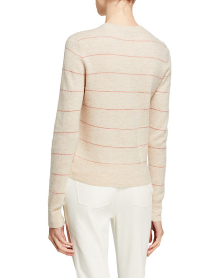 Image 2 of 2: Vince Striped Fitted Cashmere Sweater